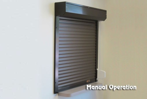 Roll up window shutters from roll a shield phoenix az for Roll up window shutters exterior
