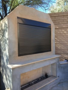 Roll A Shield Gives You Variety Of Customization Options For Protecting Your Outdoor Television Example Shutters Can Be Controlled In Several Ways