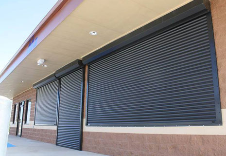 security shutters on business