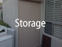 rolling shutters on storage room