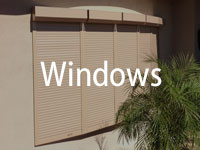 shutters on windows